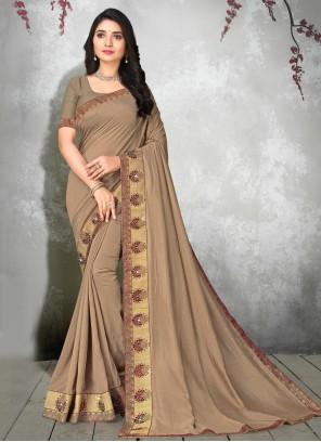 Brown Silk Classic Saree