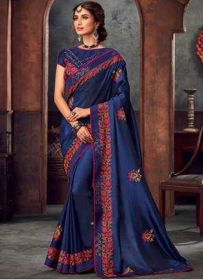 Silk Classic Saree in Blue
