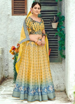 Silk Multi Colour Designer Lehenga Choli