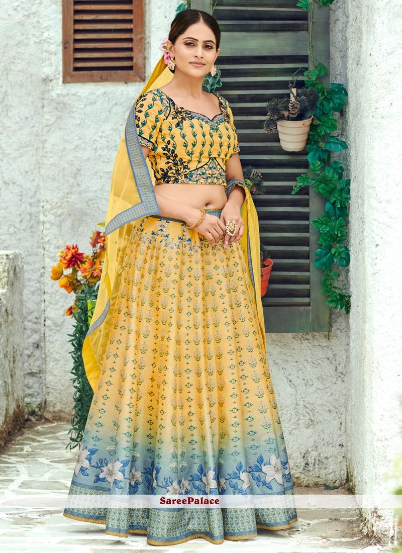 Silk Multi Colour Designer Lehenga Choli