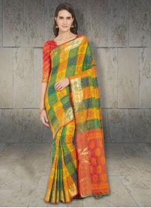 Silk Designer Saree in Multi Colour