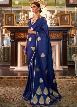 Silk Designer Blue Traditional Saree