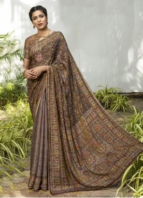 Silk Designer Traditional Multi Colour Saree