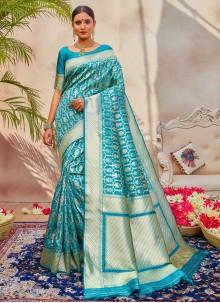 Blue Silk Designer Traditional Saree