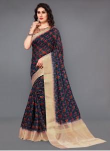 Silk Digital Print Casual Saree