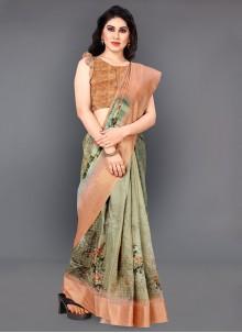 Silk Digital Print Classic Saree