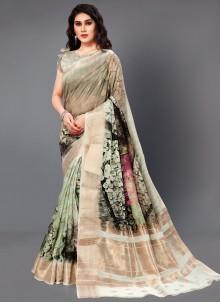 Silk Digital Print Multi Colour Casual Saree