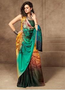 Silk Digital Print Silk Saree