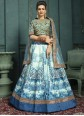 Silk Embroidered Trendy Lehenga Choli in Off White