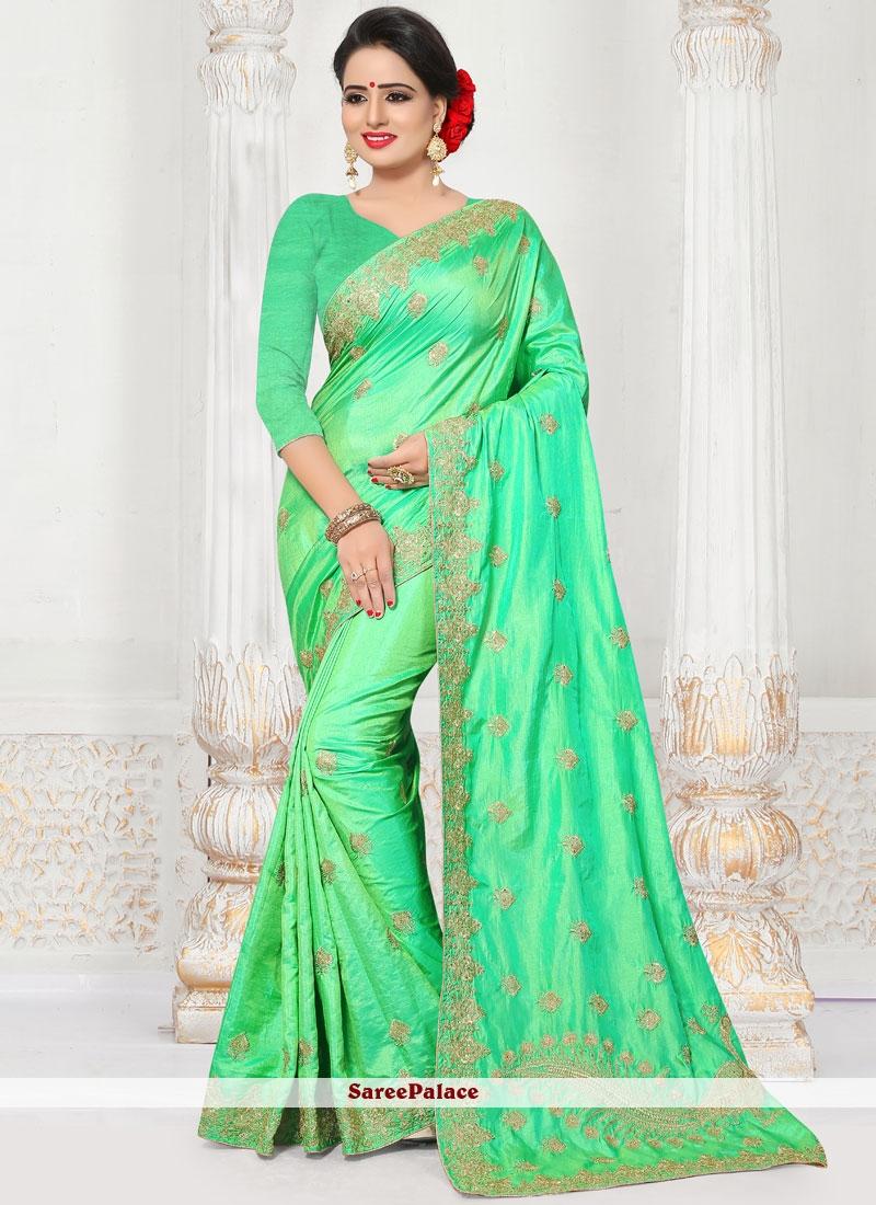 Silk Embroidered Work Designer Traditional Saree