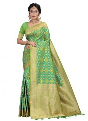 Silk Fancy Green Traditional Designer Saree
