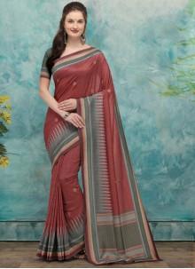 Silk Fancy Traditional Designer Saree in Maroon