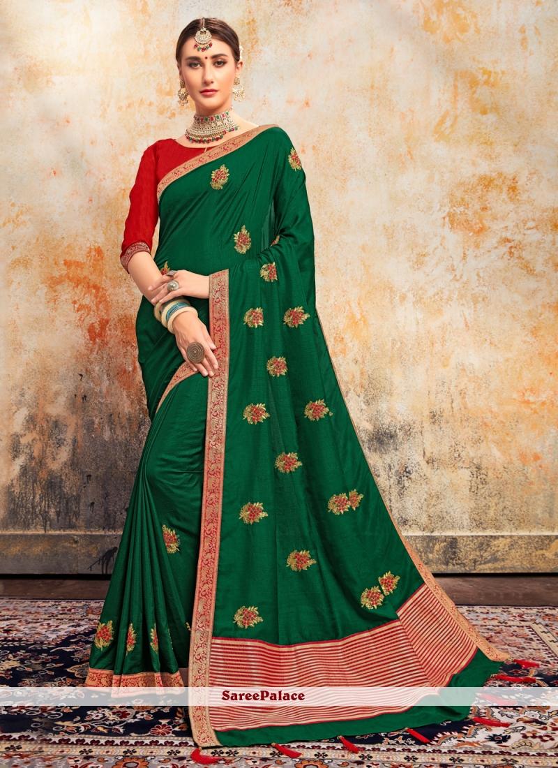 Silk Festival Classic Green Saree