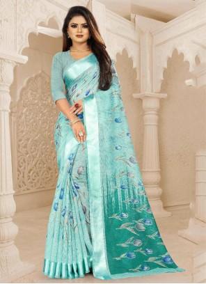 Blue Silk Festival Saree