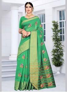 Green Silk Festival Silk Saree