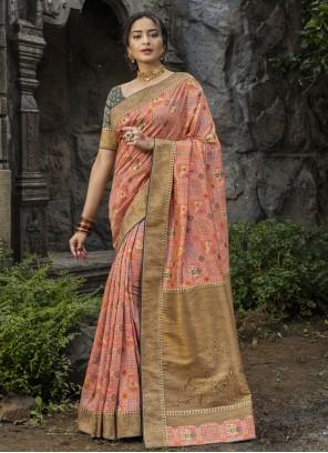 Silk Festival Pink Traditional Saree