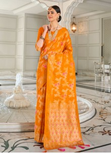 Silk Gold Classic Designer Saree