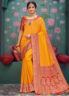 Silk Gold Weaving Traditional Designer Saree