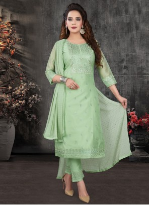 Silk Green Bollywood Salwar Kameez