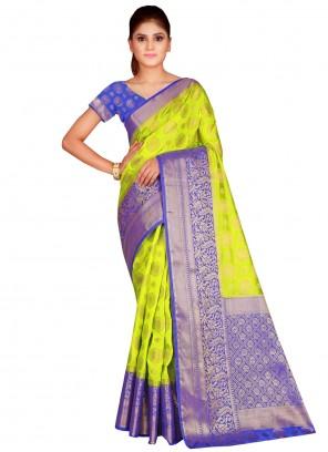 Silk Green Contemporary Saree