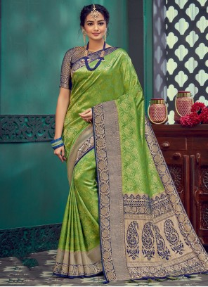 Silk Green Designer Traditional Saree