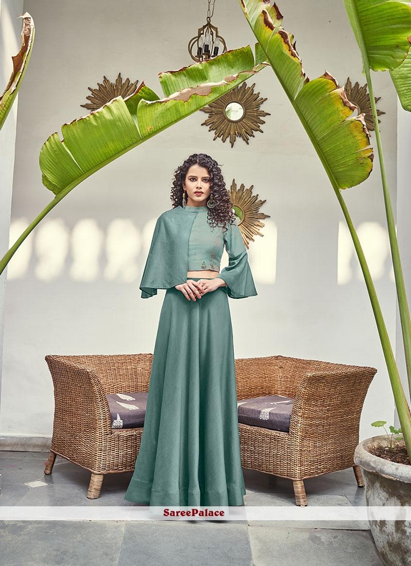 Silk Green Lehenga Choli
