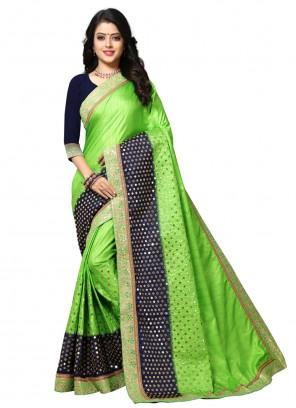 Silk Green Resham Traditional Saree