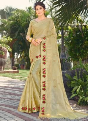 Silk Green Traditional Designer Saree