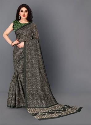 Silk Green Trendy Saree