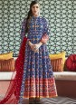 Silk Handwork Anarkali Suit in Blue