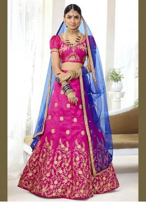 Silk Hot Pink Lehenga Choli