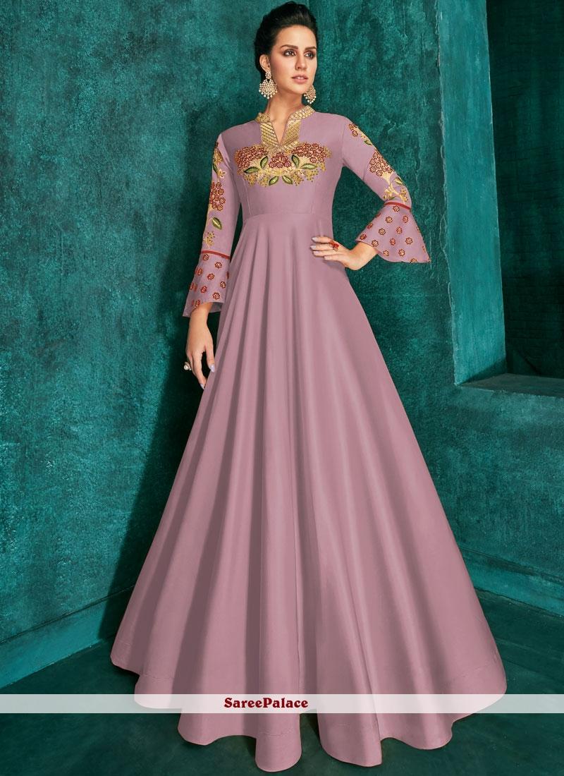 Silk Lavender Designer Gown
