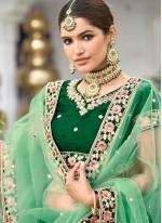 Silk Lehenga Choli in Green