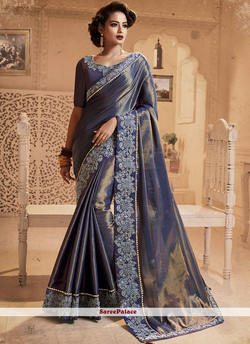 Silk Mehndi Designer Saree