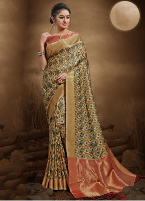 Silk Multi Colour Bollywood Saree