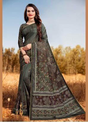 Silk Multi Colour Classic Designer Saree
