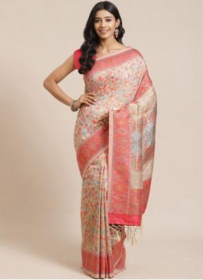 Silk Multi Colour Designer Traditional Saree