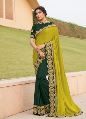 Silk Multi Colour Lace Trendy Saree