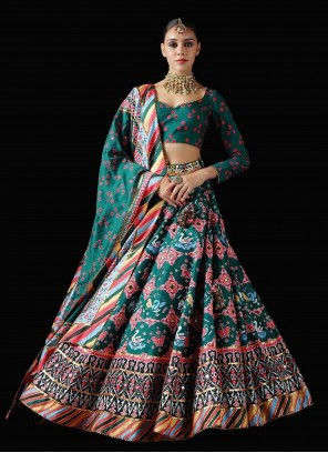 Silk Multi Colour Patola Print Trendy Lehenga Choli