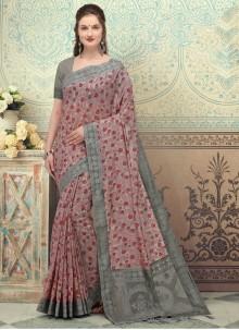 Silk Multi Colour Print Designer Saree