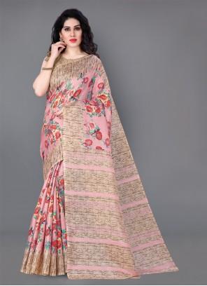 Silk Multi Colour Printed Casual Saree
