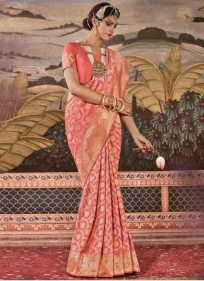 Silk Multi Colour Weaving Designer Saree
