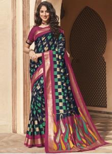 Silk Multi Colour Weaving Traditional Saree