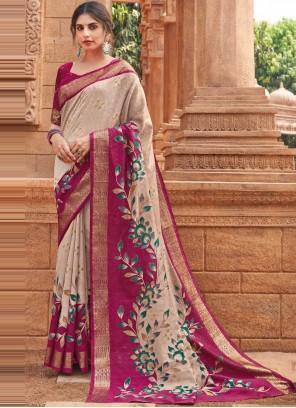 Silk Multi Colour Woven Designer Traditional Saree