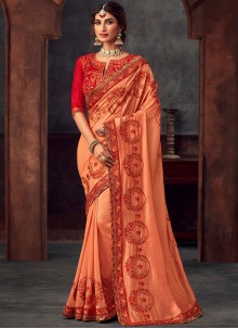 Silk Orange Trendy Saree
