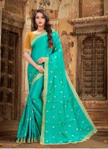 Blue Silk Party Designer Saree