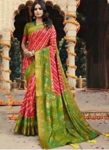 Silk Party Multi Colour Trendy Saree