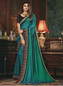 Silk Patch Border Rama Traditional Designer Saree