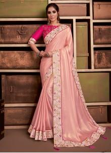 Silk Pink Classic Saree
