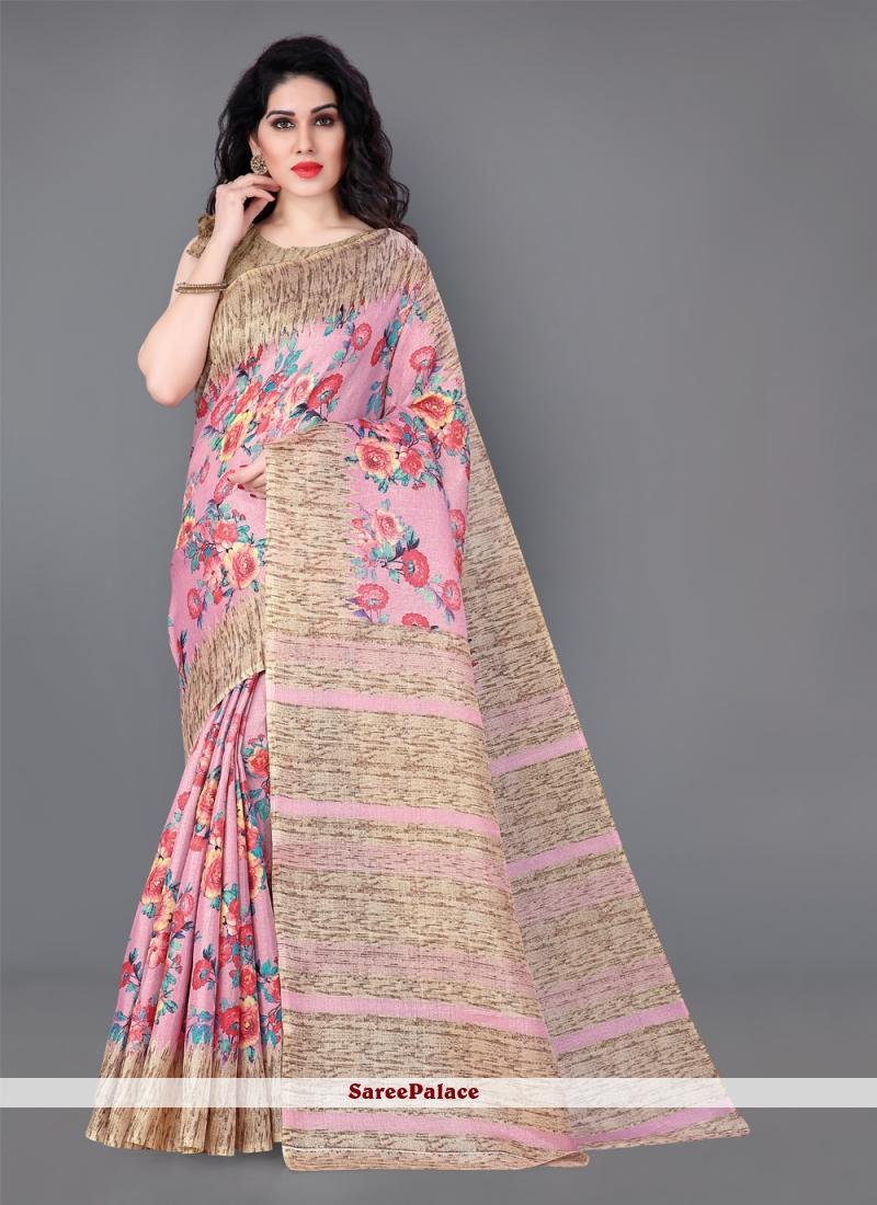 Silk Printed Classic Multi Colour Saree